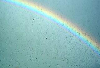 Windshield rainbow