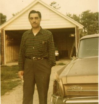 Daddy off to work, 1969
