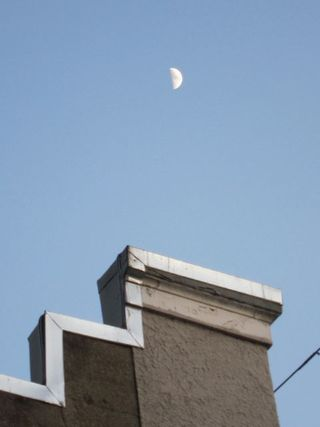 Moon over chimney